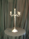 Where to rent CANDELABRA, TABLETOP 5-LITE SILVER 39  TALL in Lake Charles LA
