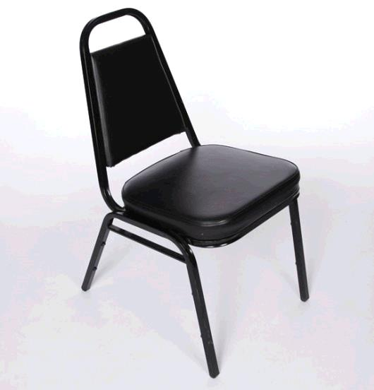 Where to find CHAIR, BLACK PADDED STACKABLE in Lake Charles