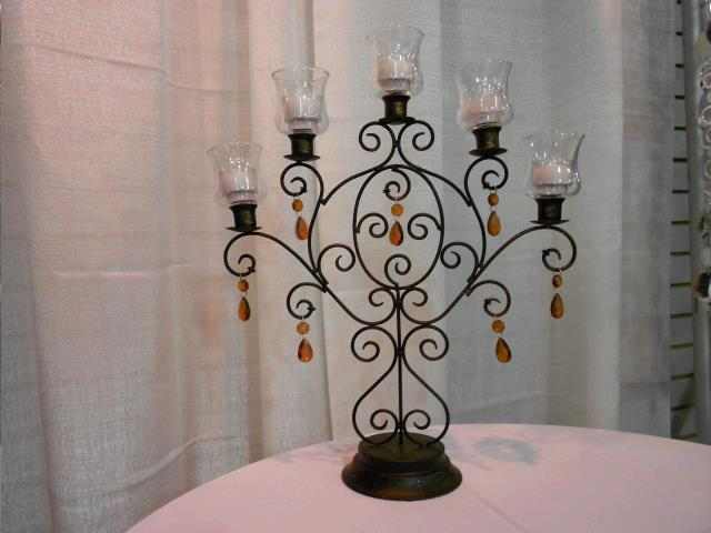 Where to find CANDELABRA, TT GUNMETAL 5 LT W CRYSTALS in Lake Charles