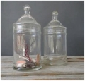 Where to rent GLASS, JAR APOTHACARY SET OF 3 in Lake Charles LA
