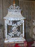Where to rent LANTERN, VINTAGE METAL ROSE   GLASS in Lake Charles LA