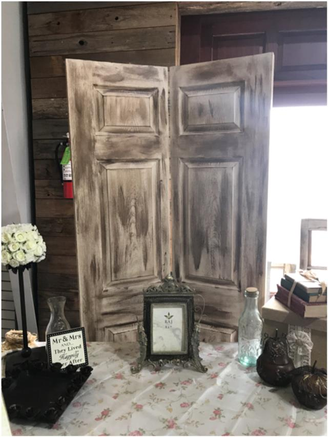 Backdrop Rustic Door Bi Fold Rentals Lake Charles La