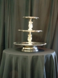 Rental store for TRAY, 3-TIER STAINLESS W CHERUBS in Lake Charles LA