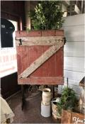 Where to rent BACKDROP, RUSTIC BARN DOOR ON STAND in Lake Charles LA