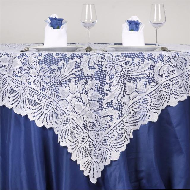 Where to find 72  SQ WHITE LACE  JOLLY GOOD LINEN in Lake Charles