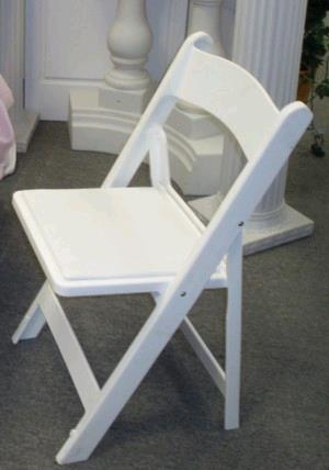 Where to find CHAIR, WHITE PADDED RESIN in Lake Charles