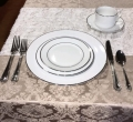 Where to rent DINNER PLATE WHITE PLAT BAND 10.5 in Lake Charles LA