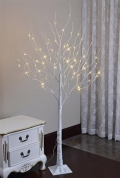 Rental store for 8  WHITE BIRCH TREE W LED LIGHTS in Lake Charles LA