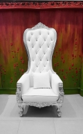 Where to rent CHAIR, THRONE WHITE SILVER QUEEN ANNE in Lake Charles LA
