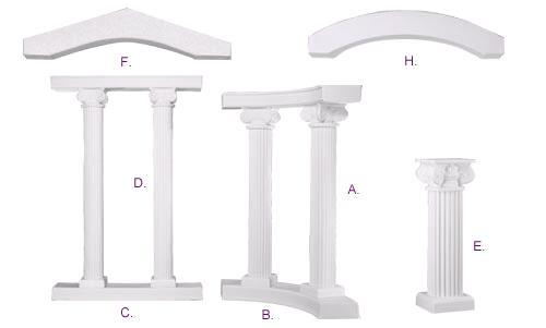 Where to find COLONNADE, SANDSTONE CURVED  B in Lake Charles