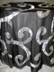 Where to rent 120  RND BLACK   SILVER SWIRL LINEN in Lake Charles LA