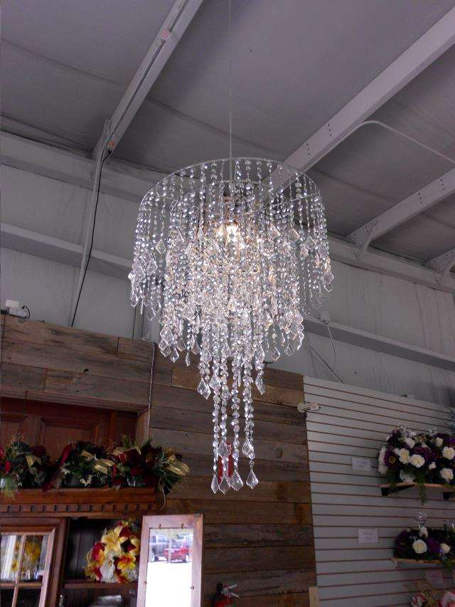 Chandelier Silver Crystal 25 Inch 2 Pc Rentals Lake