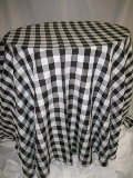 Where to rent 120  RND BLACK GINGHAM LINEN in Lake Charles LA